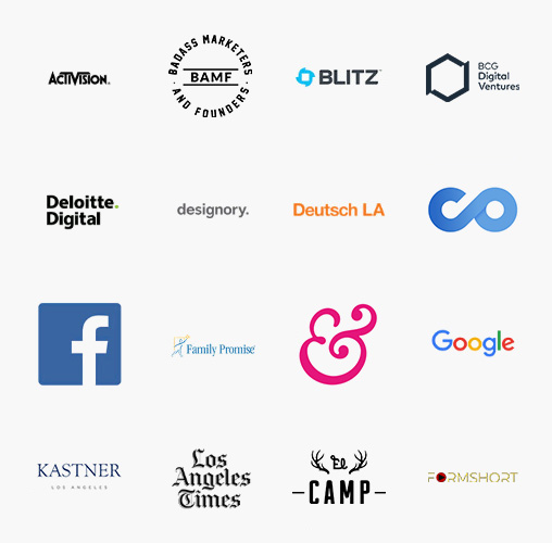 A list of organizations that M-School has worked with